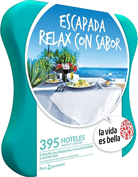 LA VIDA ES BELLA - Caja Regalo - ESCAPADA RELAX CON SABOR - 395 hoteles de hasta 5* con spa en España y Portugal: Amazon.es: Deportes y aire libre