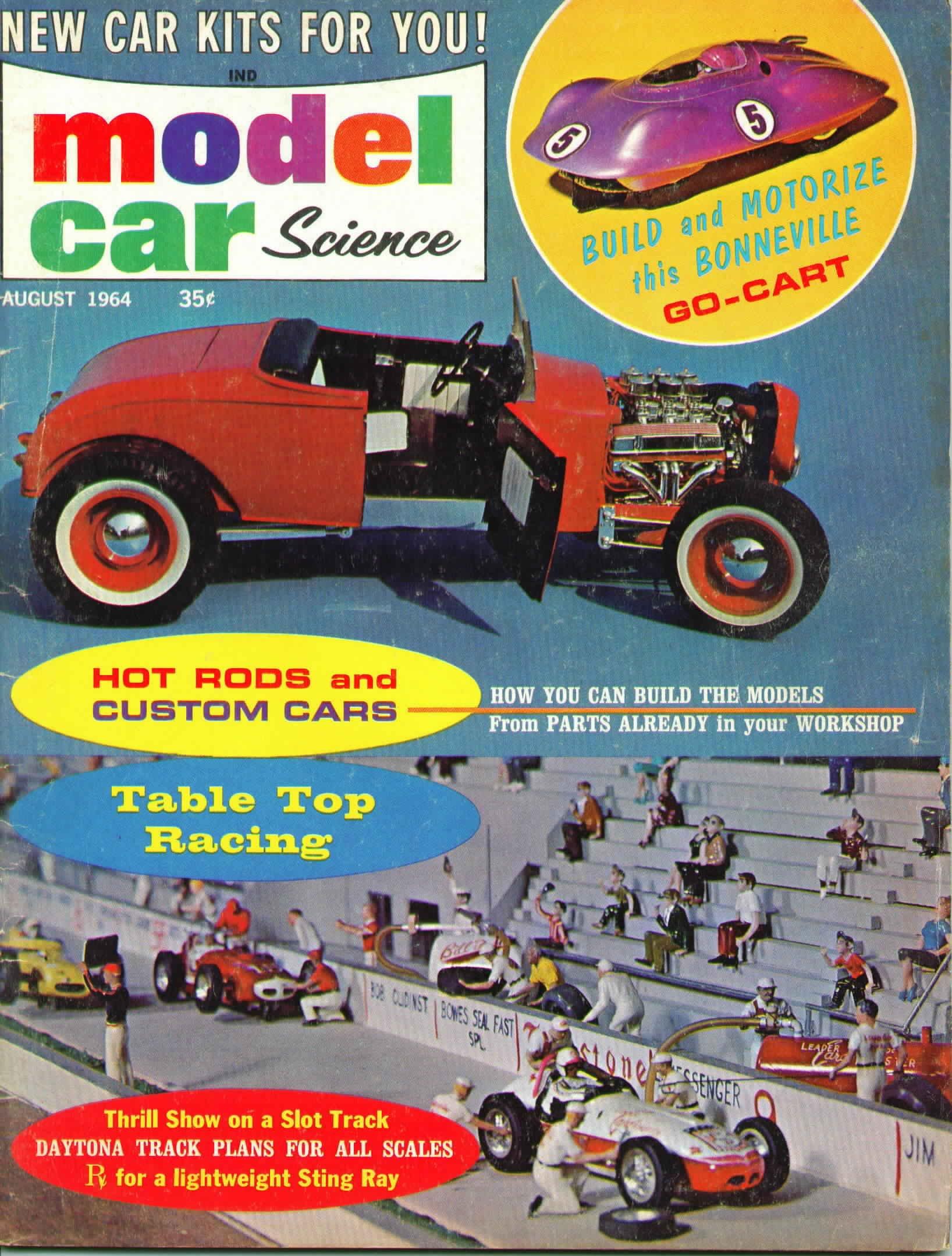 Model Car Science Magazine August 1964 Mcs Amazoncom Books