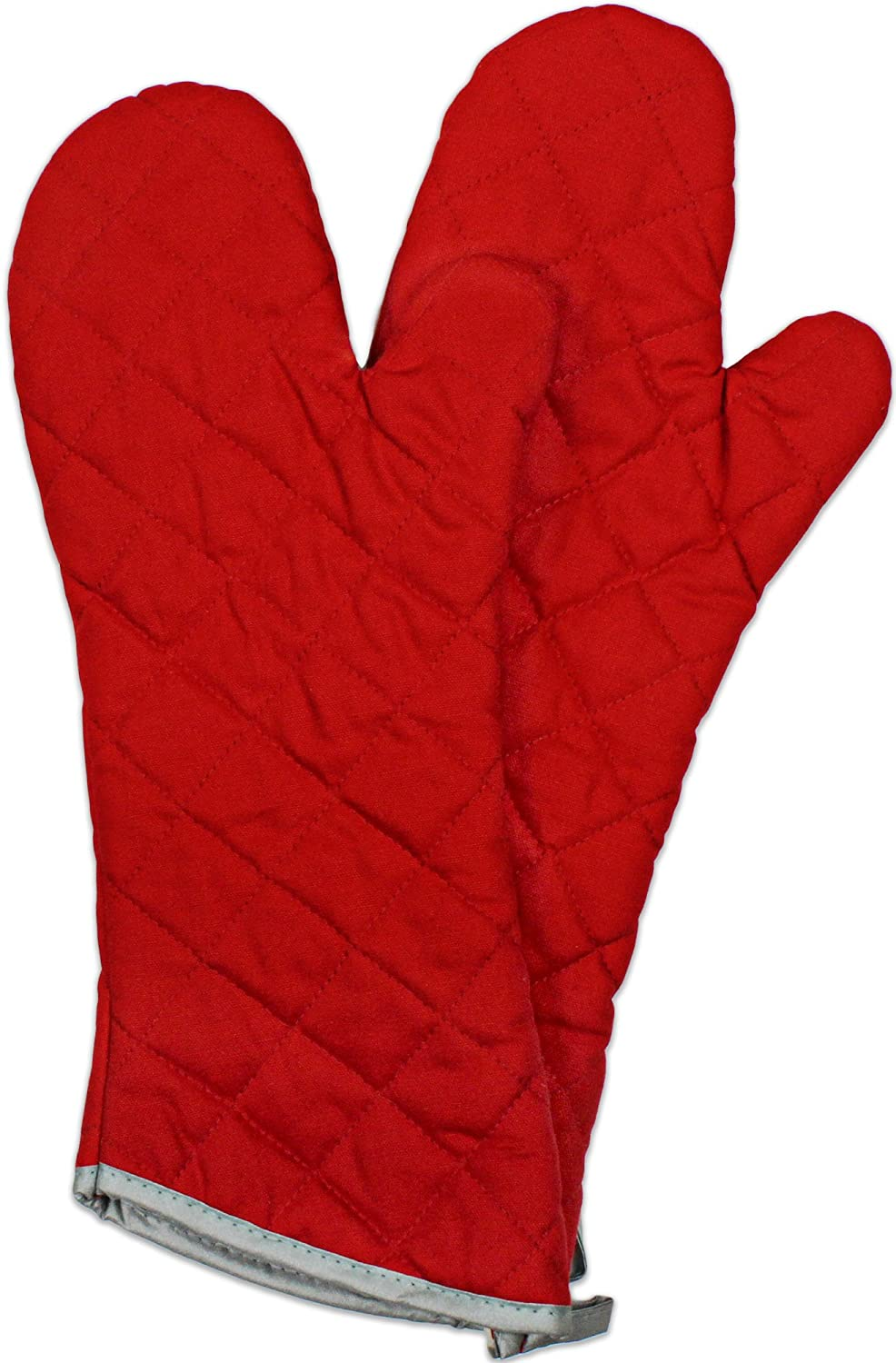 Nouvelle Legende Flame Retardant Kitchen and Outdoors Mitt Quilted (2-Pack = 1 Pair) - Red