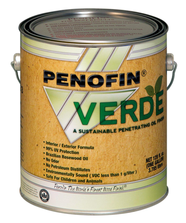 Performance Coatings 733921700734 Penofin Verde Sustainable Wood Finish,  1 Gallon, Ebony   Household Wood Stains   Amazon.com