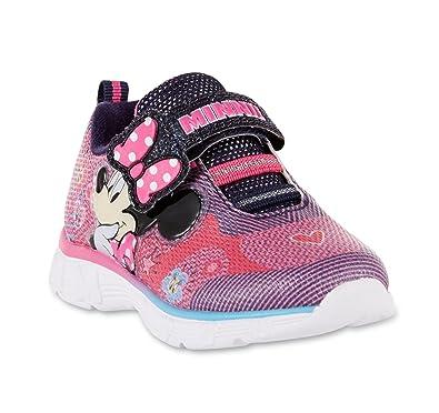 Disney Minnie Mouse Little Girl Shoe Pink Light Up Athletic Sneaker (12 M  US Little cc607de0edb