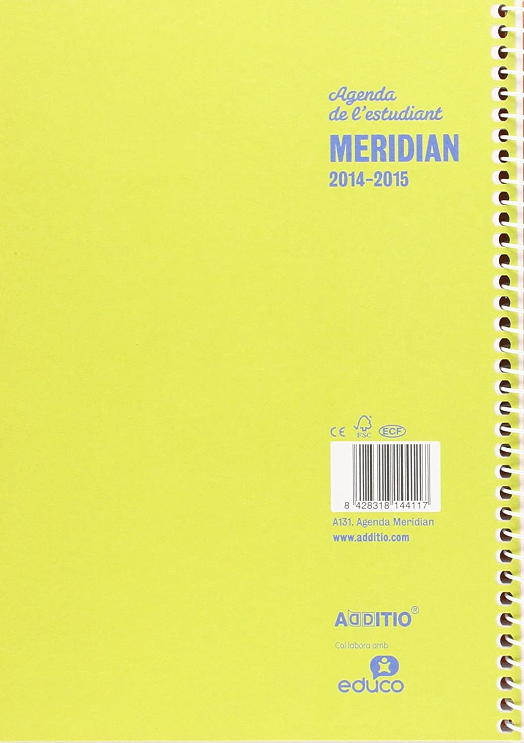 Amazon.com : ingraf A131 - Agenda Meridian A5 SV Catalan ...
