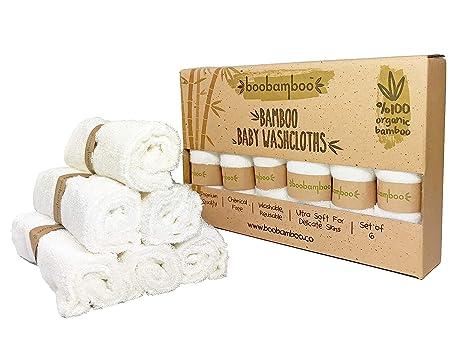 Paños Orgánicos Boobamboo para Bebés y Adultos, 100% Bambú, Set de Toallas de