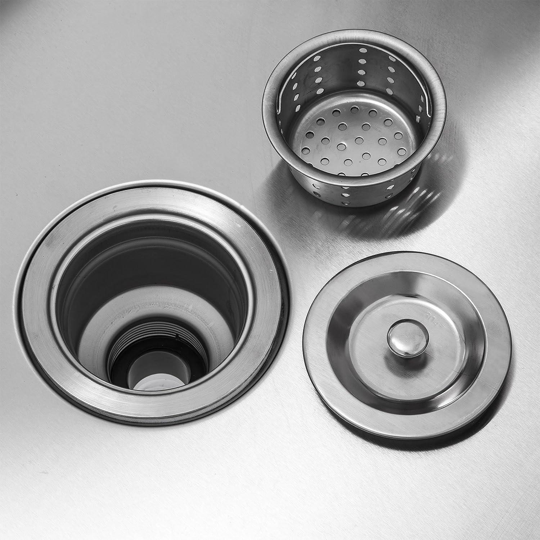 Olibelle Evier en Acier Inoxydable Professionnel avec 1 Compartiments de 23,5x22,5x10pouces Evier sur Pied Evier Simple Cuve de Cuisine
