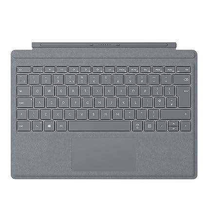 Microsoft Surface Pro Signature Type Cover Cover Port QWERTY Platino Teclado para móvil - Teclados para