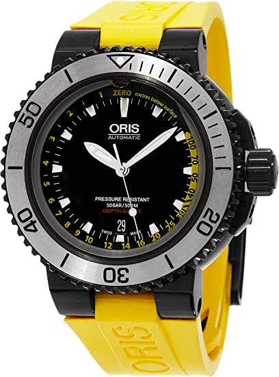 Oris Aquis Depth Gauge 733.7675.4754. Set 46 mm automático de iones de acero