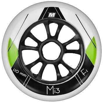 Matter Rollen Mi3 F1 8-Pack - Ruedas para Patines en línea, Color Negro, Talla 110mm: Amazon.es: Deportes y aire libre