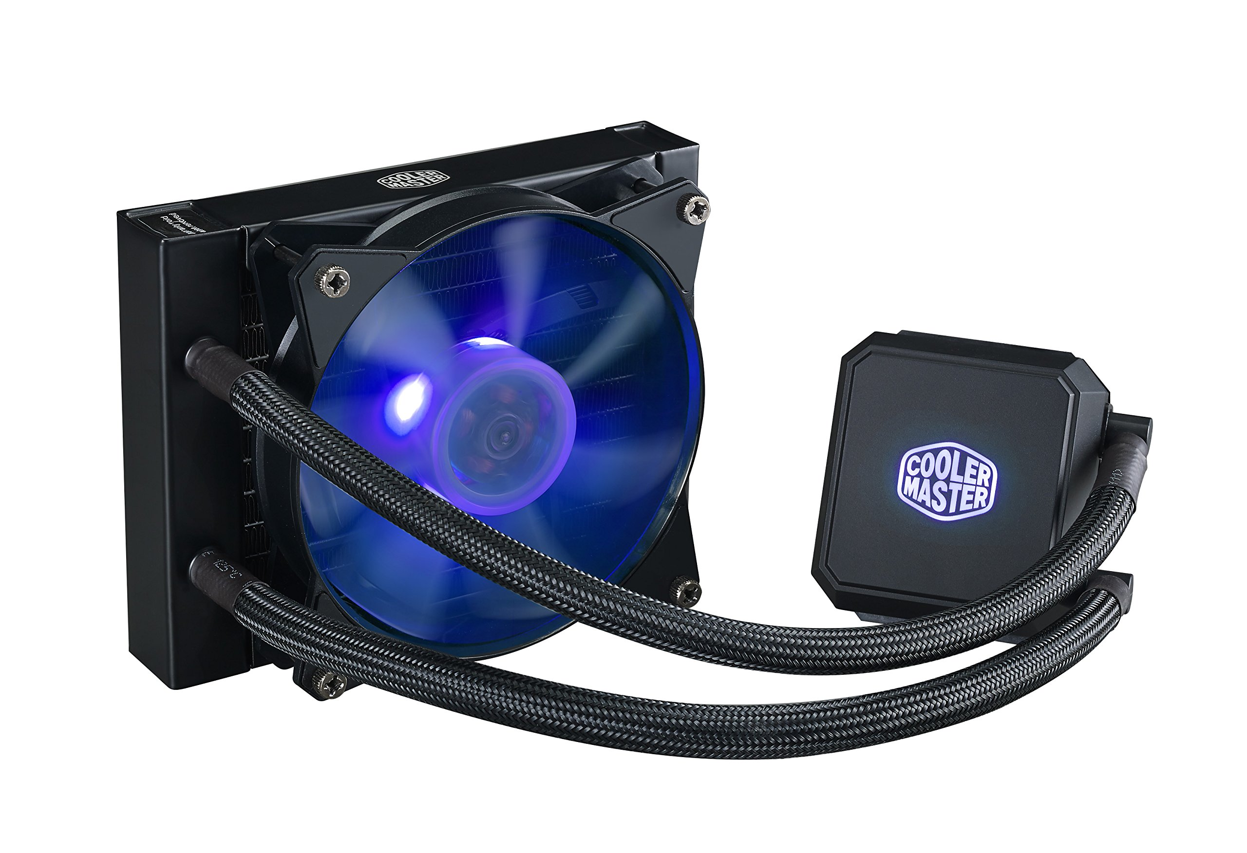 Cooler Master MasterLiquid LC120E RGB All-in-one CPU Liquid Cooler with Dual Chamber Pump Latest Intel/AMD Support (MLA-D12M-A18PC-R1) by Cooler Master