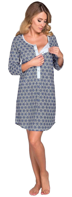 Italian Fashion IF Camicia da Notte Premaman 13D1 0111 XXL)