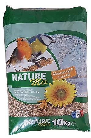 AIME Nourriture pour Oiseaux, Nature Mix 10 Kg pour Oiseaux du Ciel et  Animaux Sauvages 14f4959687ef