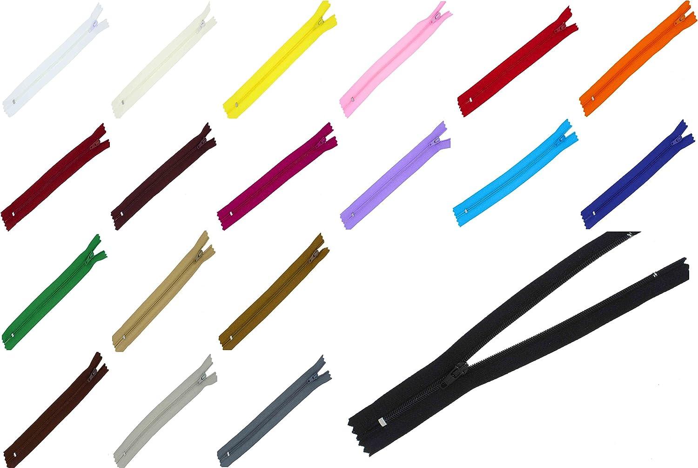 zipworld Rei/ßverschluss Nylon in 31 Farben und 18,20,22,30,40,50,60cm