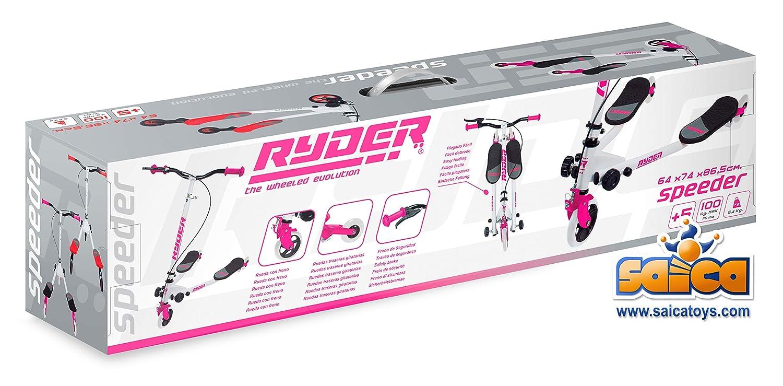 Saica Rosa Patinete con 2 Bases Ryder Speeder, Color Blanco ...