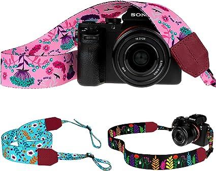 Pawia - Correa de Hombro para cámara réflex Digital de Canon ...