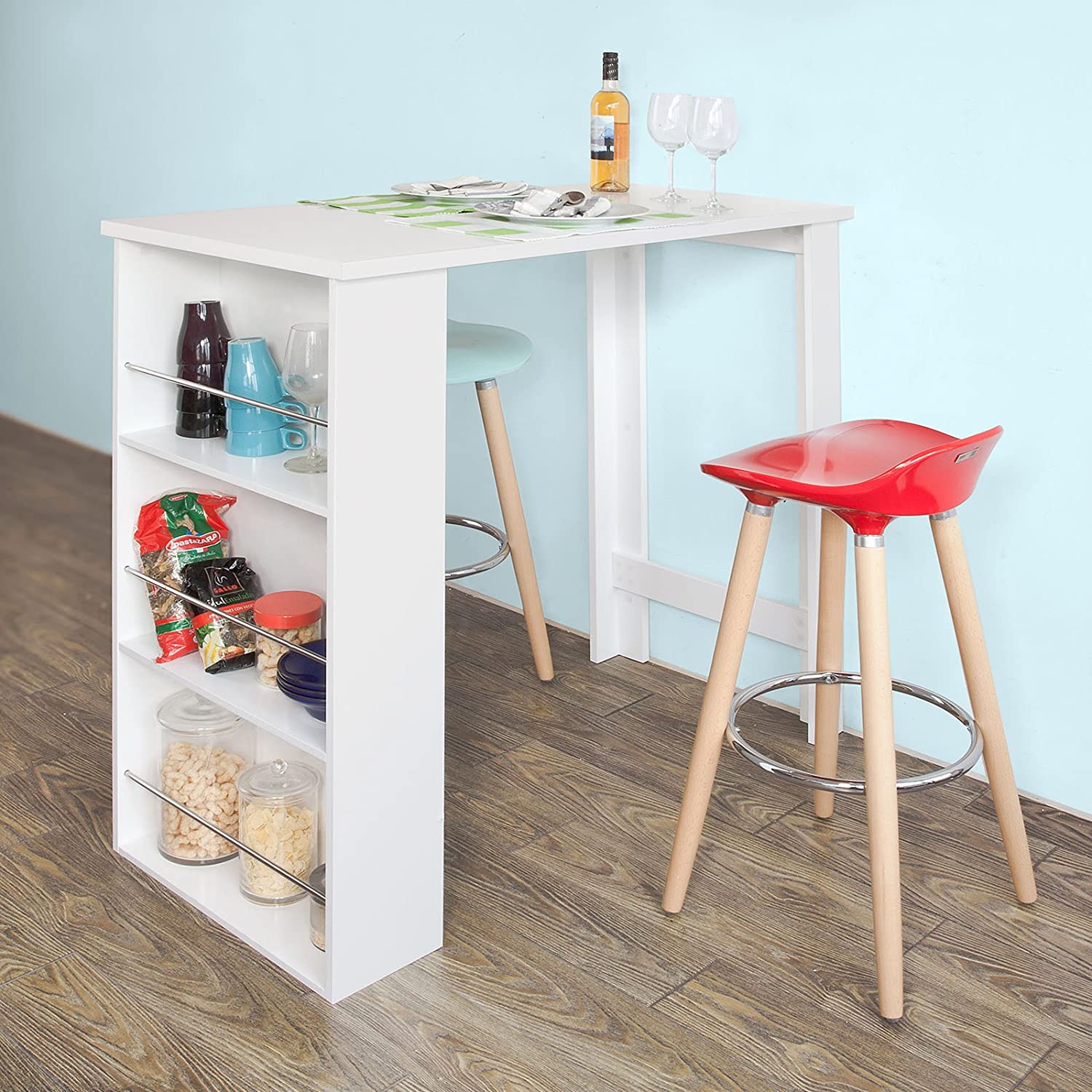 Cuisine avec mange debout bq68 jornalagora - Amazon table de bar ...