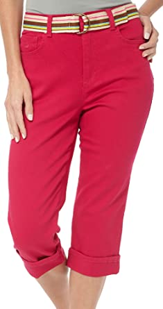 Gloria Vanderbilt Plus Size Amanda Capri at Amazon Women's ...