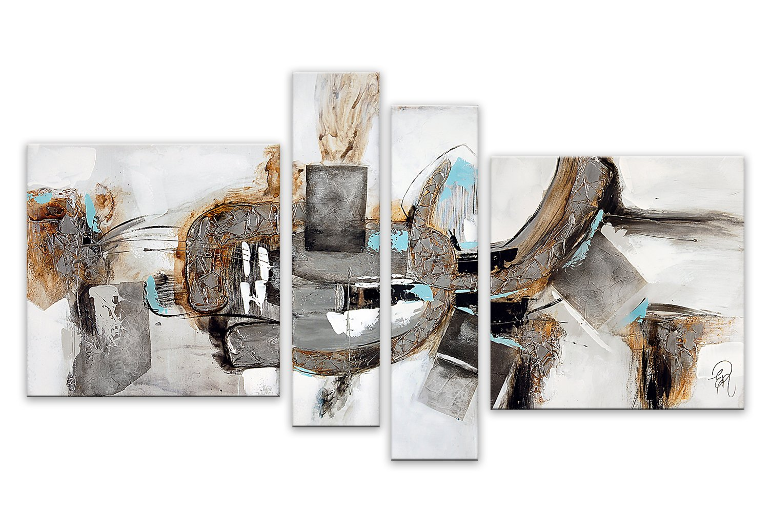 World Art TW60089 Aesthetic Wooden Frame Abstract 110x150x3.5 cm Size: 44 x 60 x 2 Inch
