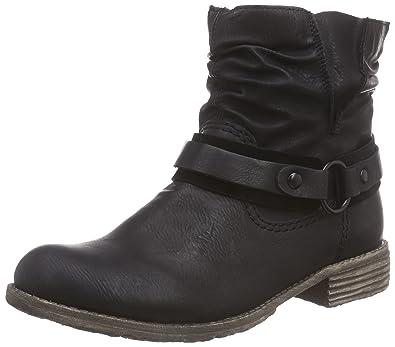 Women Ankle Boots black (schwarz/schwarz) 74762-01