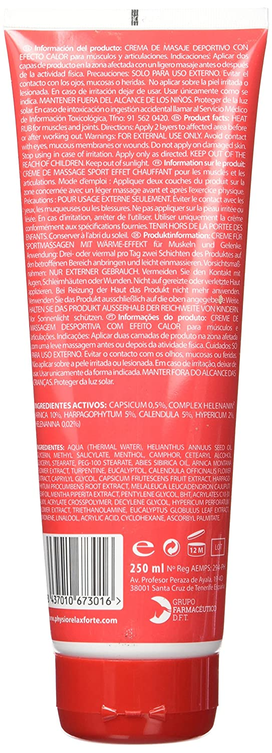 Physiorelax Ultra Heat Crema de Efecto Calor para Músculos y Ligamentos - 250 ml: Amazon.es: Belleza