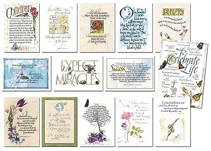 Amazon.com: Nota Tarjetas en acuarela y caligrafía para ...