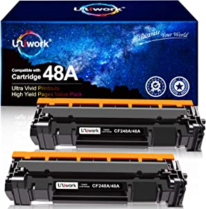 Uniwork Compatible Toner Cartridge Replacement for HP 48A CF248A use for LaserJet Pro M15w, LaserJet Pro M29w, MFP M28w, M28a, M29a M30w M31w M15a M16a M16w Printer Toner, 2 Black