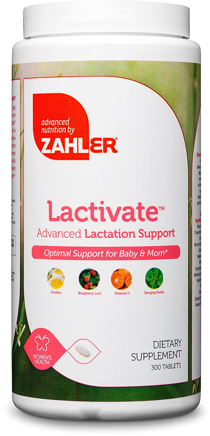 Zahler Lactivate, Advanced Lactation Support Supplement, Certified Kosher, 300 Tabs