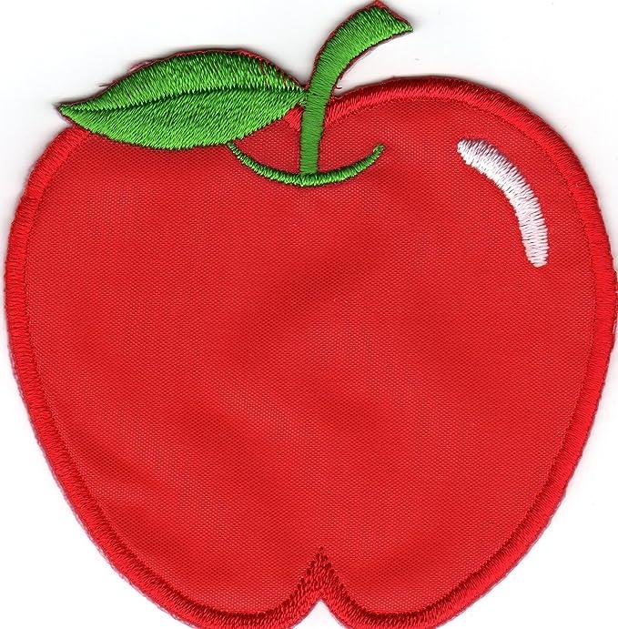 Jab Seller Aufnäher Bügelbild Aufbügler Iron On Patch Apfel Rot Frucht Essen Baum Küche Haushalt