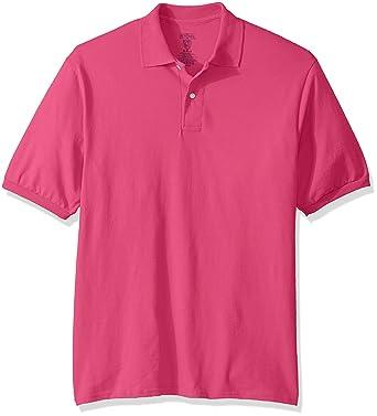 Jerzees Mens Spot Shield Short Sleeve Polo Sport Shirt, Cyber ...
