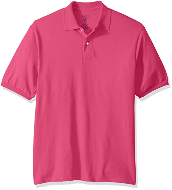 Jerzees Mens Spot Shield Short Sleeve Polo Sport Shirt, Cyber ...