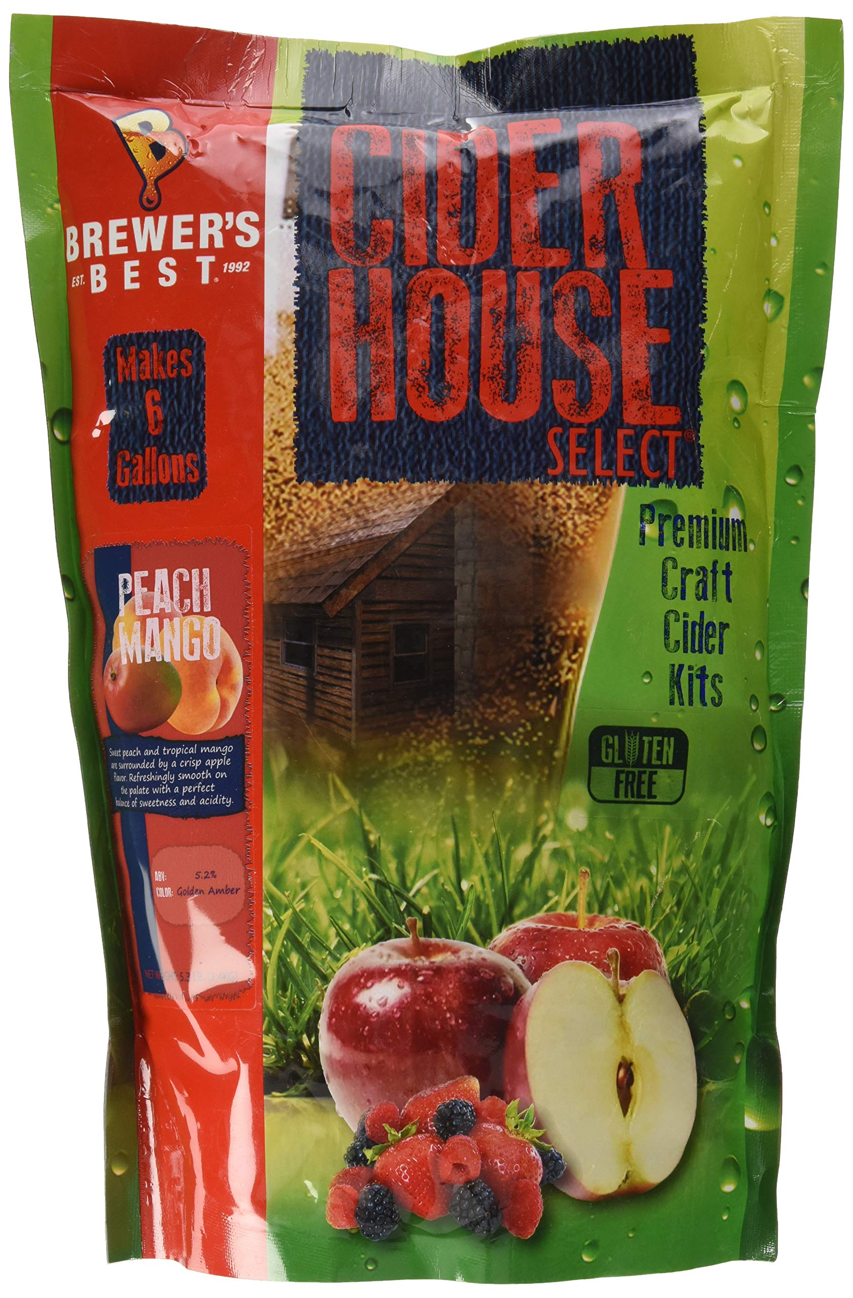 Home Brew Ohio Brewer's Best House Select Peach Mango Cider Kit