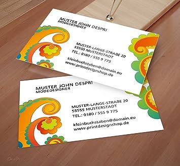 Visitenkarten Online Gestalten Despri Design Vk029 Bunt