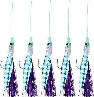 Storfisk fishing /& more Zirkelhaken Heringspaternoster Echter Fischhaut mit Leuchtperlen 5 Seitenarme