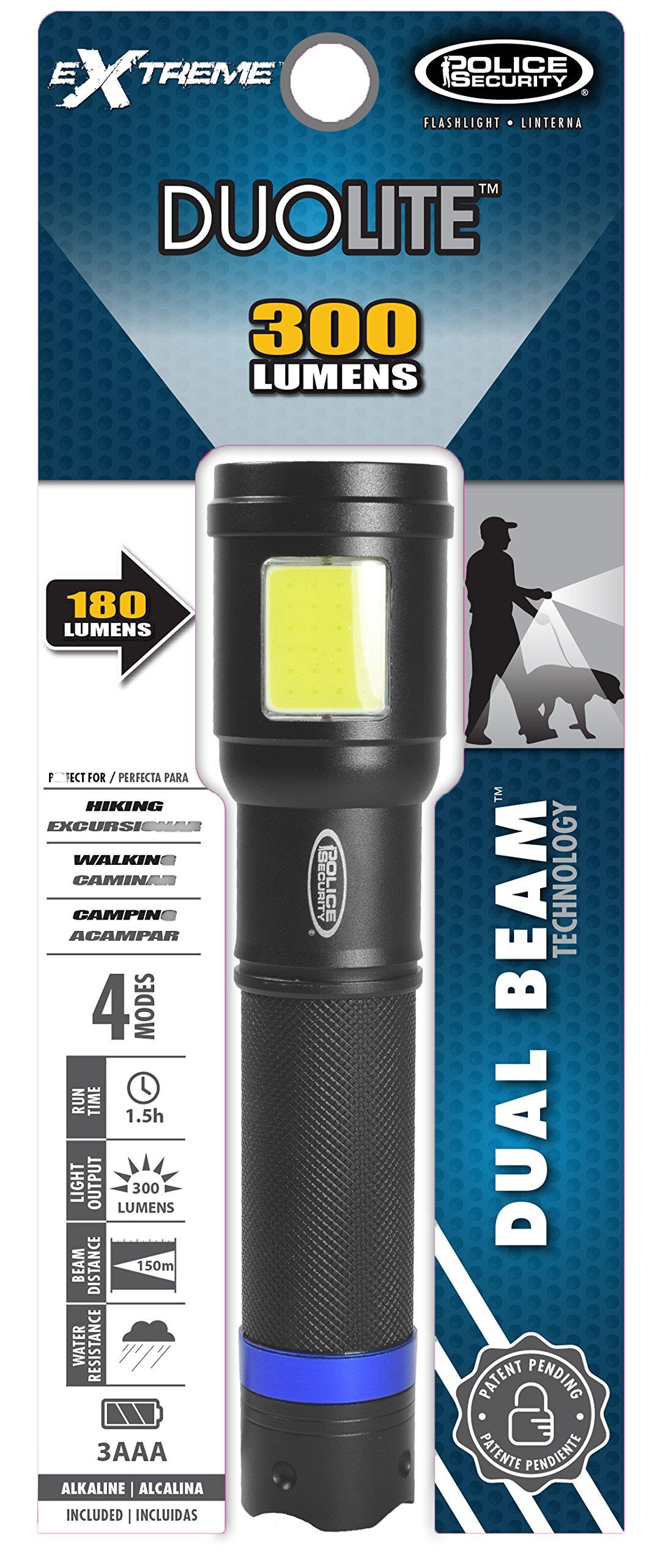 Police Security DuoLite 3AAA - Ultra Bright- Cree LED - Dual Utility Work Flashlight (Spotlight Beam and Area Light) - 300 Lumens - Everyday Use - Dog Walking, Hiking - Lights Your Path by Police Security Flashlights (Image #5)