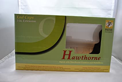 TSI Prime Hawthorne White End Caps 3 In. Extension