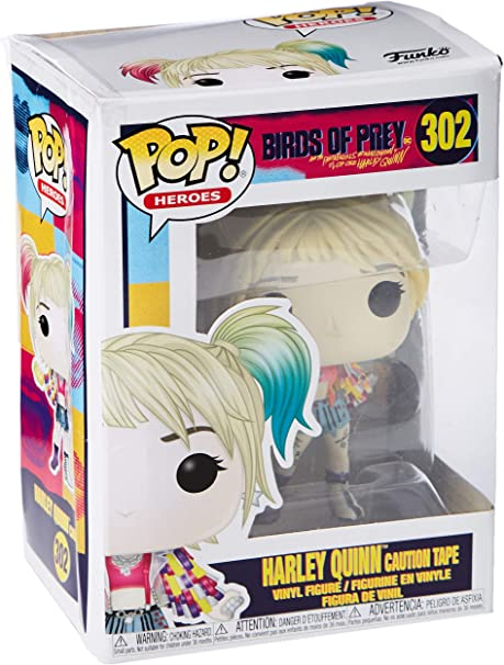 Funko- Pop Heroes: Birds of Prey-Harley Quinn (Caution Tape ...