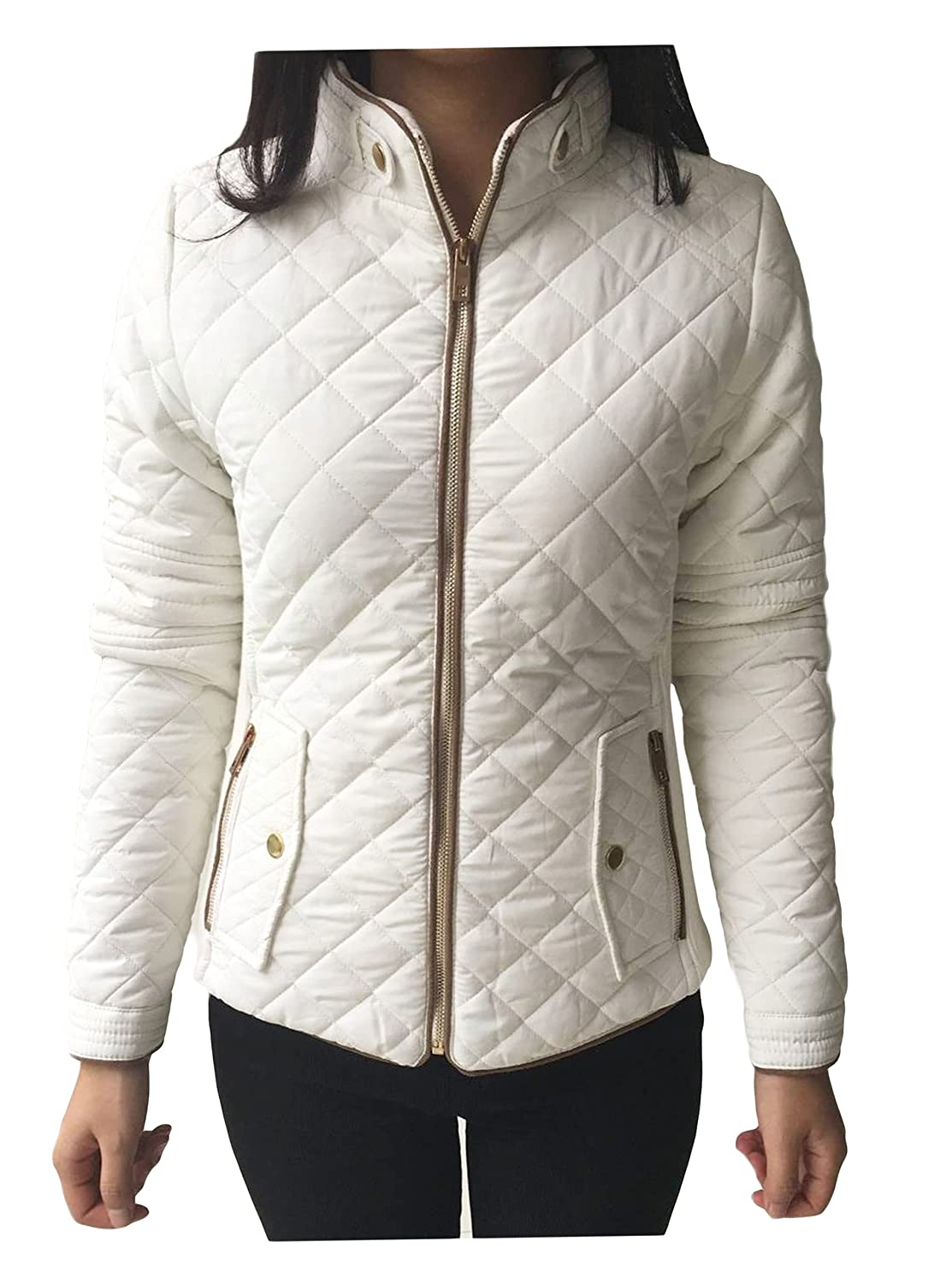 Alipolo Women's Winter Plus Size Full Zip Thick Padded Jacket