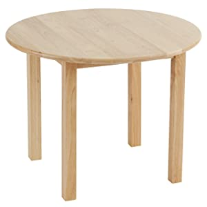 ECR4Kids Deluxe Hardwood Activity Play Table for Kids, Solid Wood Childrens Table for Playroom/Daycare/Preschool, 30 Inch Round, Natural Finish