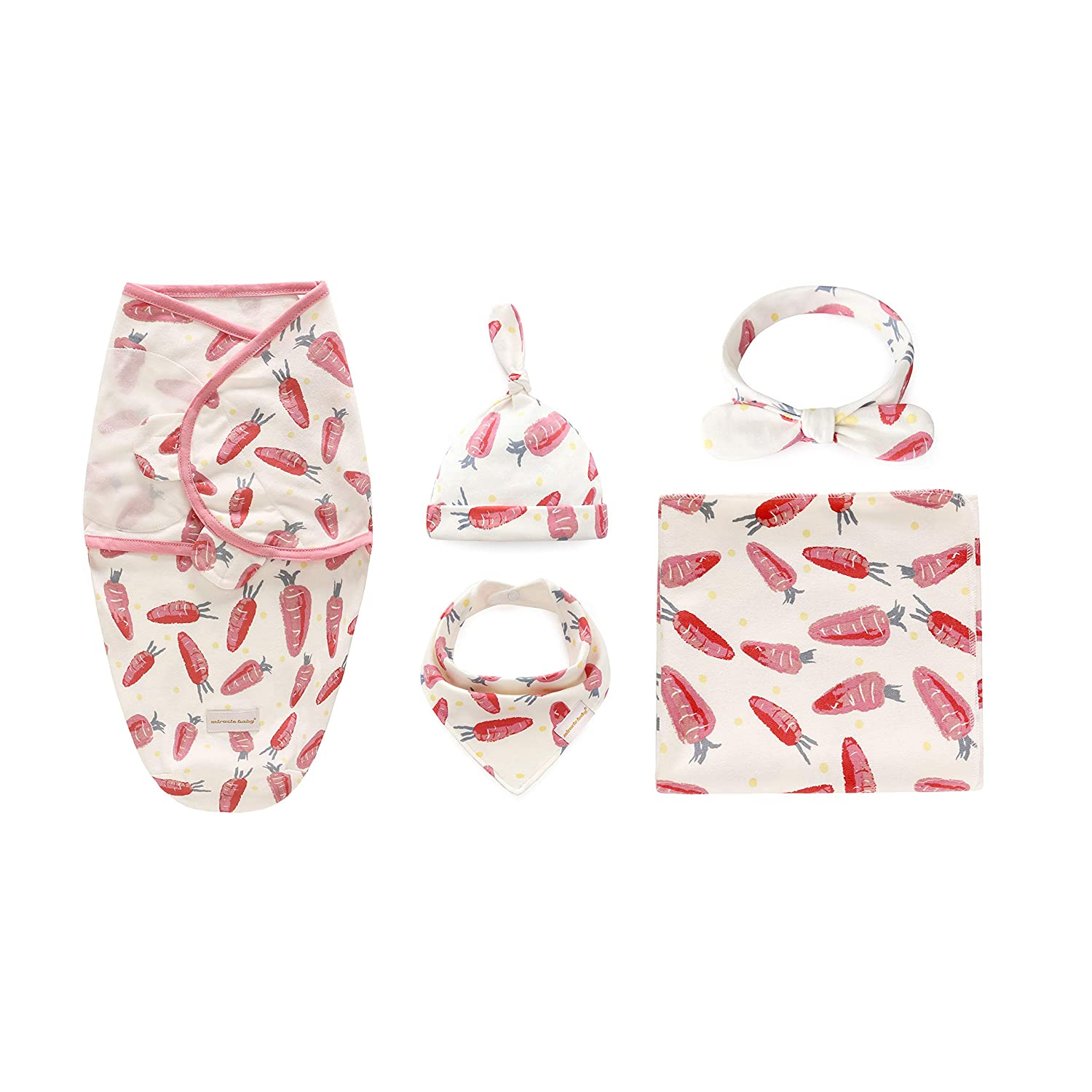 100/% Cotton Knitted Times Golden International Group Limited CP2090449-5PCS Headband Bandana Bib Set Baby Swaddle Wrap Blankets with Hat for 0-3 Months, Grey Deer 5-Pack Shower Gift for Newborn Infants Swaddling /& Receiving /& Sleeping /& Drooling