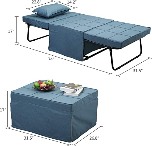 BWM.Co Sofa Bed Convertible 4-in-1 Multi-Function Chair