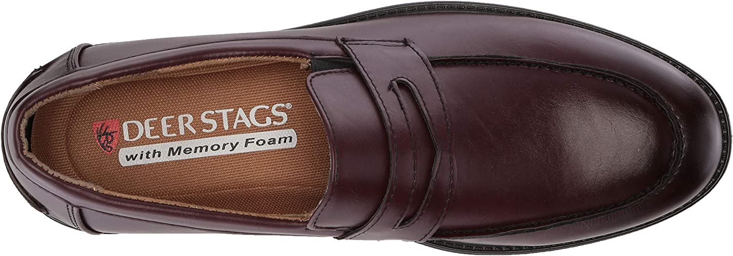 Deer Stags Mens Fund Classic Dress Comfort Penny Moc Loafer