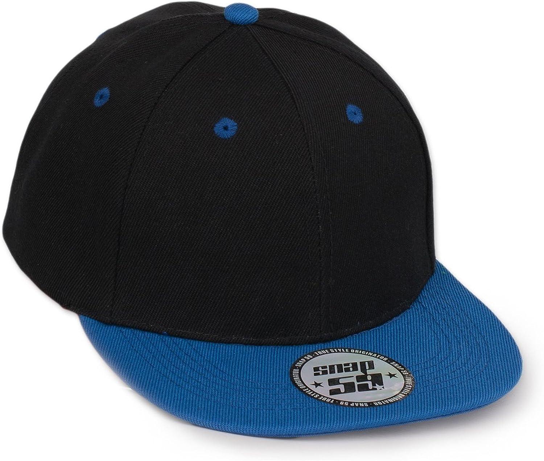 MFAZ Morefaz Ltd Kids Two Tone Snapback Flat Peak Cap Boy Girl Children Summer Sun Hat Protection Sport