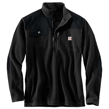 e54a620b8731b Carhartt Men s 102836 Fallon Half-Zip Sweater Fleece - Medium Regular -  Black