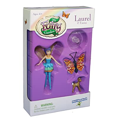 My Fairy Garden Fairy & Friends Playset - Laurel & Fauna: Toys & Games