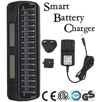 Ladegerät Akku AA AAA Battery Charger Wiederaufladbarer Batterieladegerät LCD