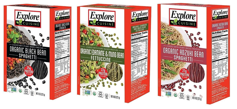 Organic Gluten Free Bean Pasta - 3 Flavor Variety Bundle