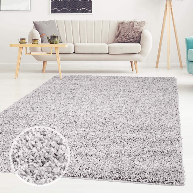 Carpet city ayshaggy Shaggy Teppich Hochflor Langflor Einfarbig Uni T/ürkis Weich Flauschig Wohnzimmer 160 x 160 cm Rund Gr/ö/ße 160 cm x 160 cm