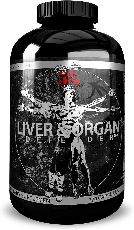 Rich Piana 5 Nutrition Liver Organ Defender, 270 Capsules