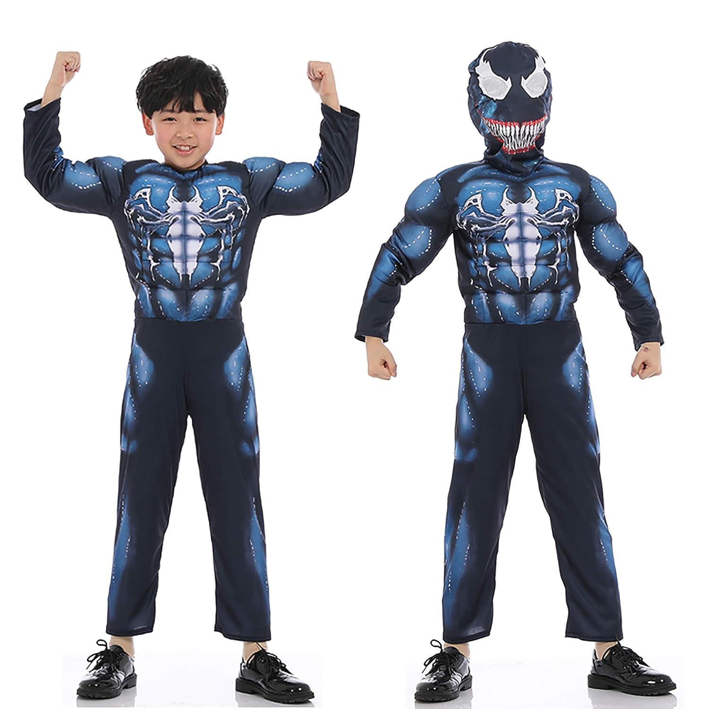 Amazon.com: Disfraz de Spiderman para niños de Venom azul ...