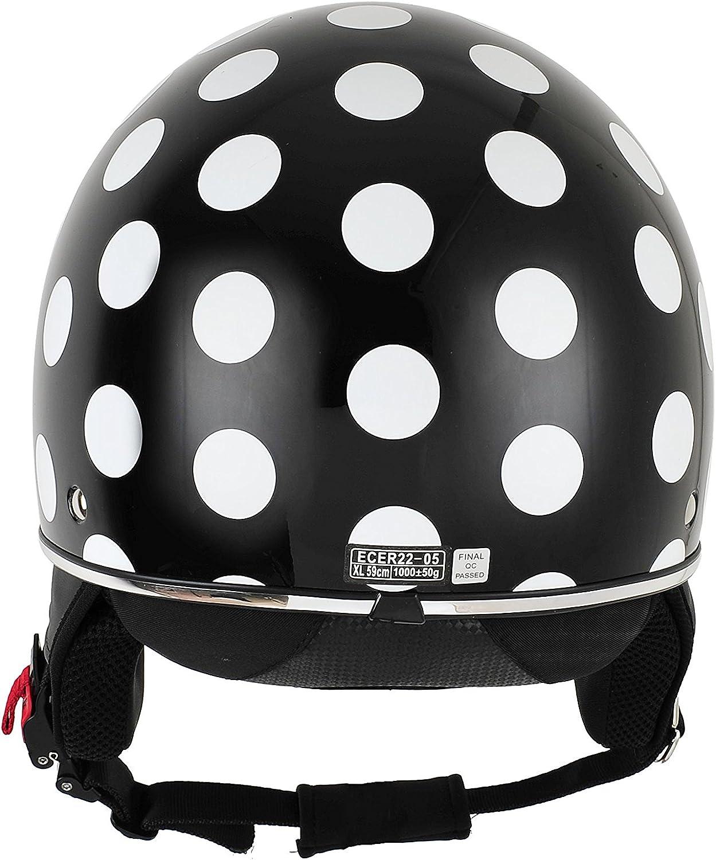 XS multicolored BHR 94164 Demi-Jet Helmet Model 802 With Hidden Visor 53//54 cm