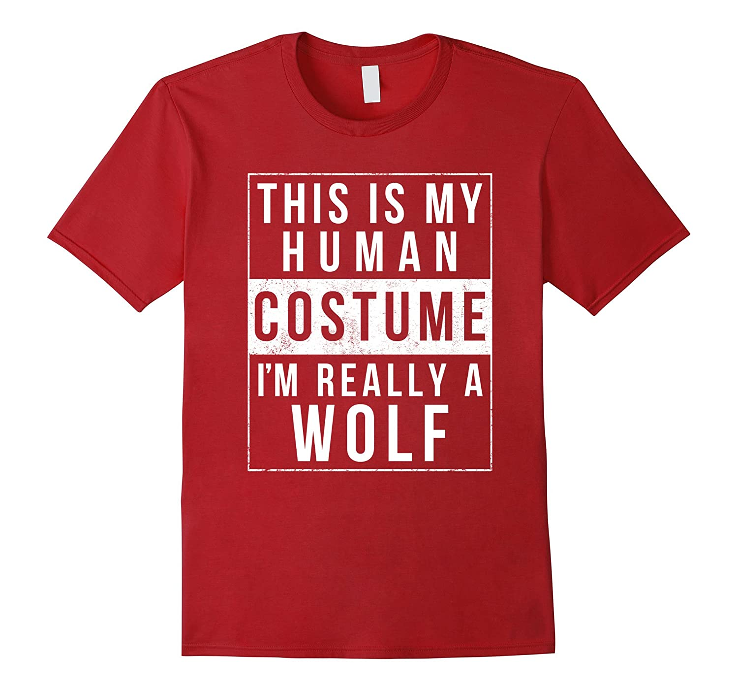 ba253030497 Wolf Halloween Costume Shirt Funny Easy for Kids Men Women-ANZ ...