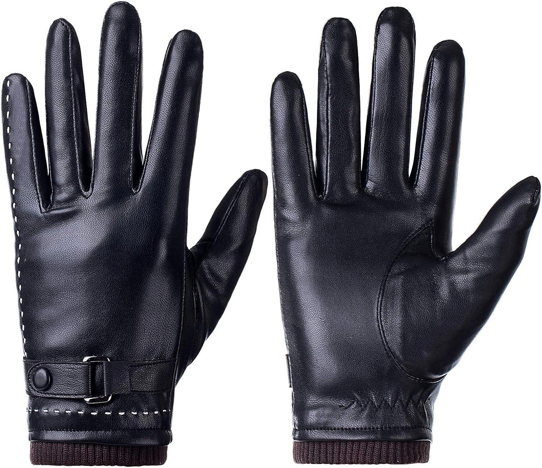 Winter Women Gloves PU...